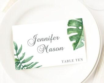 Botanical Cards Wedding Place Cards Table Seating Cards Name Tags Wedding Name Cards Editable Wedding Template Place Setting Cards Template