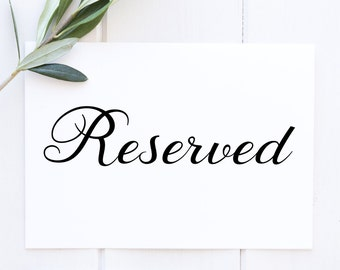 Reserved table sign | Etsy