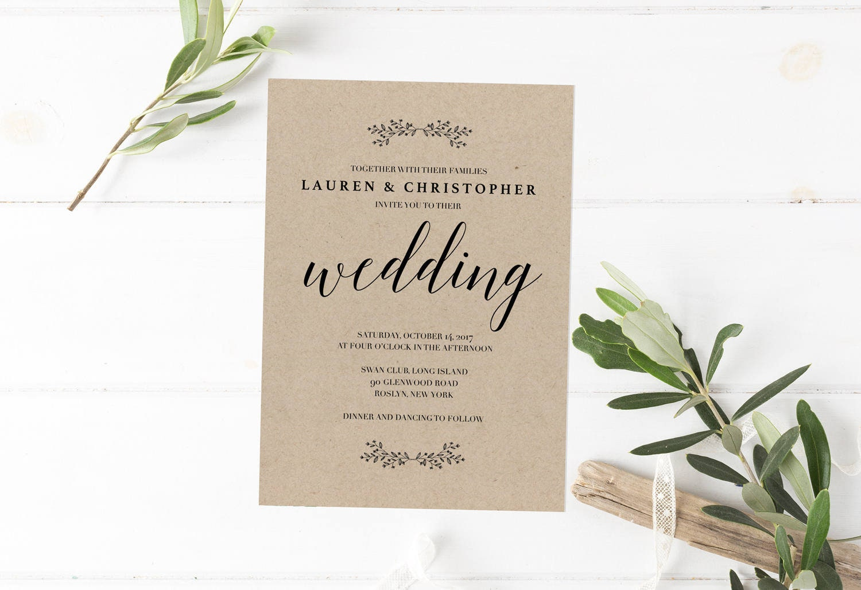 Example Invitation Wedding: Barn Wedding Invitation Template Simple Wedding