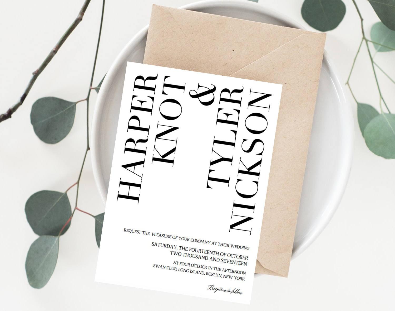 Unique Wedding Invitation Template Modern Create Your Own