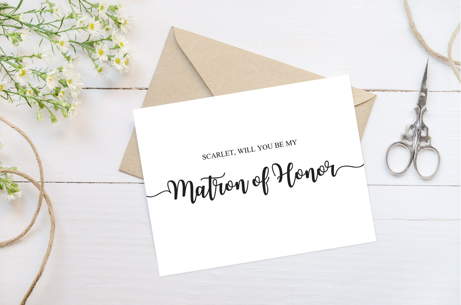 Will You Be My Matron Of Honor Proposal Card Matron Of