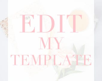 Edit my Template - Invitation, Program, Menu, Enclosures, Table Numbers, Cards or Belly Bands - Let us edit one of our templates for you