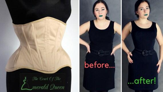 f761bc83bb Nude buskless underbust corset 20 steel boned perfect