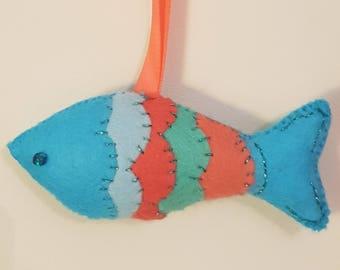 Funky Felt Fish Hanging Decoration