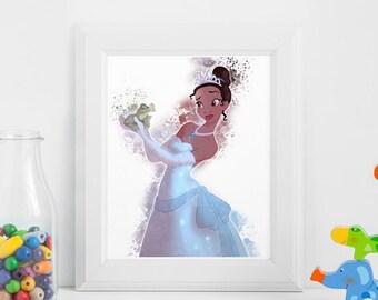 Princess Tiana Birthday Party Decorations Nursery Decor Etsy