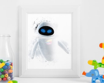 Eve Wall E Robot Printables Instant Download Art Birthday Printable Nursery Party Decorations Invitation ArtID 344