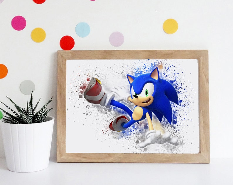 Sonic the Hedgehog Poster A5 A4 A3 A2
