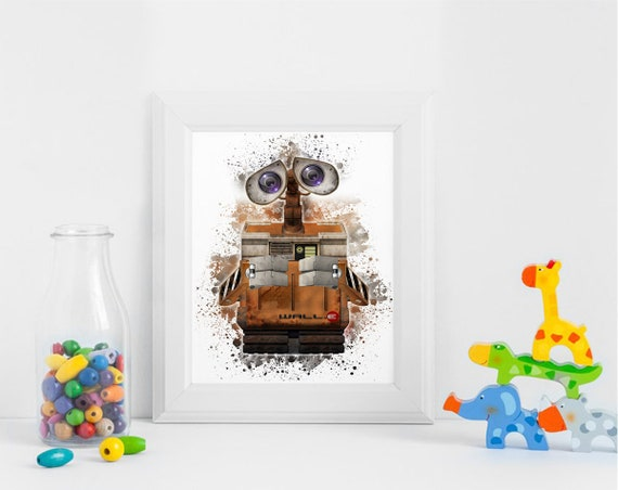 Robot Wall E Printables Instant Download Art