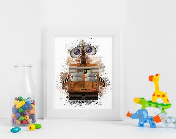 Robot Wall E Printables Instant Download Art Birthday Printable Nursery Party Decorations Invitation ArtID 345