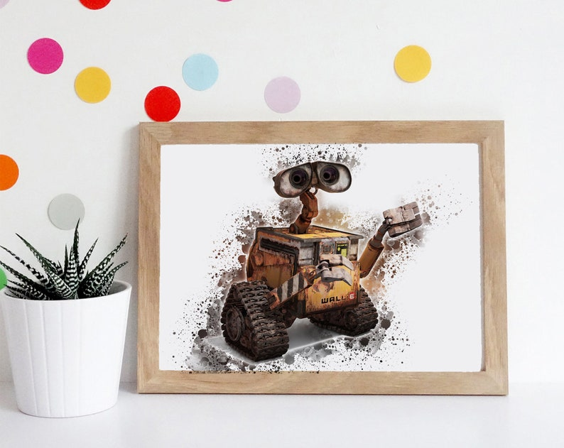 Wall E Decor Instant Download Disney Art Birthday