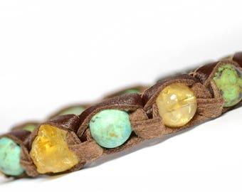 Talisman For Money Prosperity Bracelet Citrine Lucky Energy Turquoise Gift Businessman Amulet Multicolor