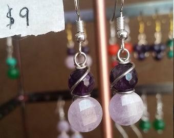 Amethyst Earrings- Handmade