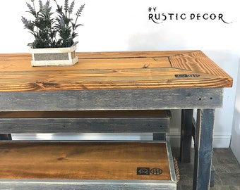 Rustic kitchen table   Etsy