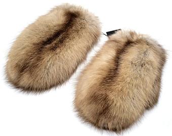 8b2db5f9d8a682 Winter Frauen Pelz Handschuhe aus Naturfell kanadische Zobel