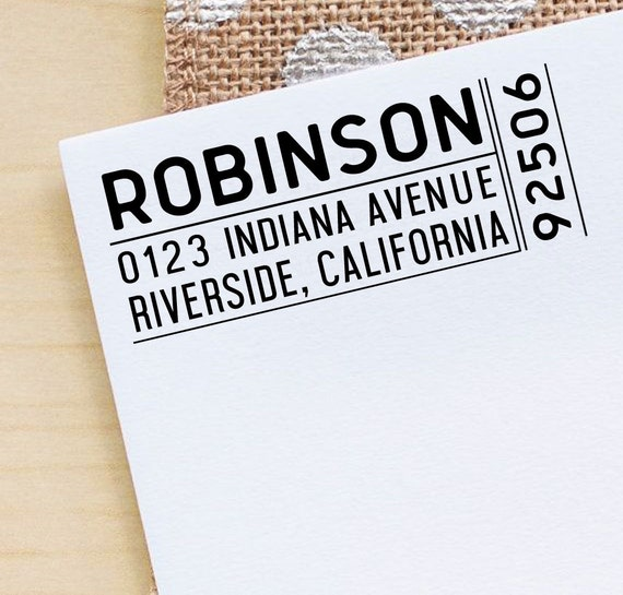 Custom Family Address Stamp Self Inking