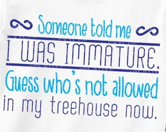 Immature Quote Etsy