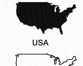 USA Vector, State Clipart, United States Clip Art, Usa Map Clip art svg, State png, DXF, pdf, EPS FlexyCreatives  #mp-51