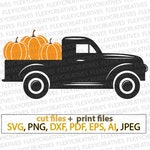 Black Pumpkins truck SVG Black Halloween Truck svg, Haloween, Fall truck, autumn, pumpkin truck cricut cut file clipart Silhouette #vc-207