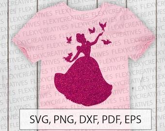 Cinderella SVG, Vector, Clipart, Cut File, Disney Princess shirt Clip Art, Disney shirt svg, cricut Cinderella png, DXF, pdf, EPS #ts-14