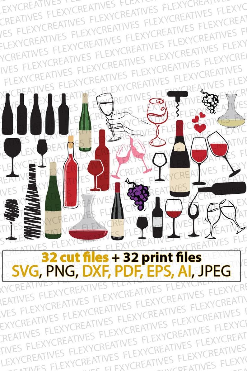 Wine bundles svg wine svg wine bottles wine glasses image 0