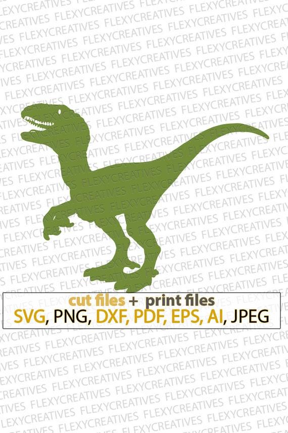 Velociraptor Dinosaur Svg Velociraptor Svg Files For Cricut Etsy