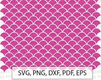 Mermaid scales SVG, Mermaid scale SVG Print, digital, Cut File, Clip Art, Cricut svg, png, dxf, pdf, EPS FlexyCreatives  #vc-63