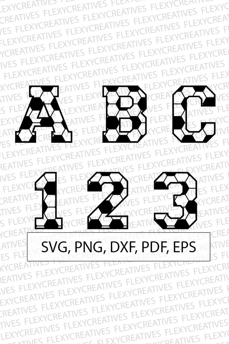69531b531567 Football alphabet   numbers svg Football Letters svg Vector