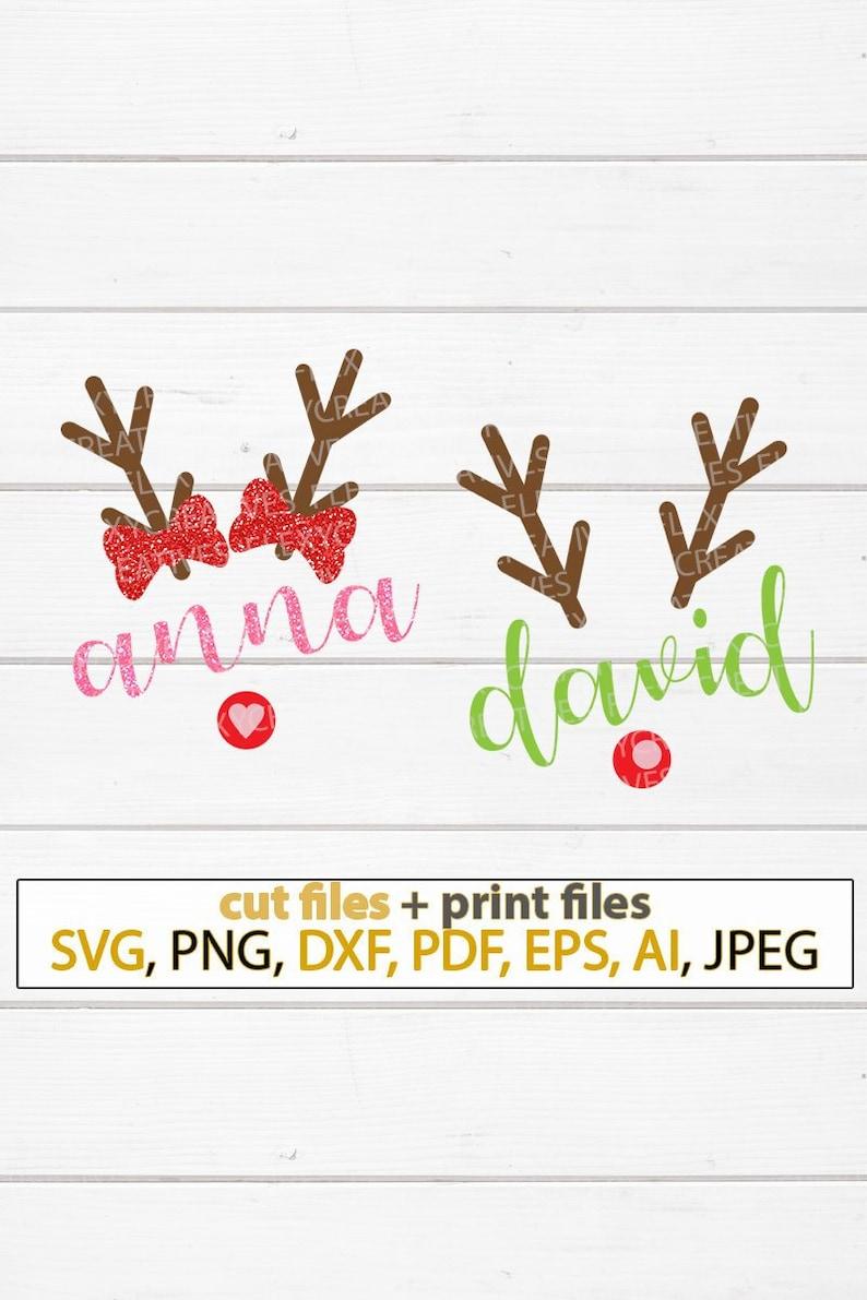 Matching sibling reindeer SVG Shirt matching Christmas svg image 0