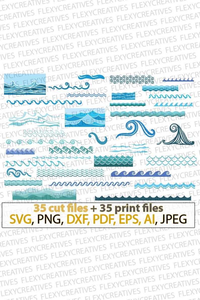 Waves SVG Sea waves Ocean waves bundle marine ripple image 0