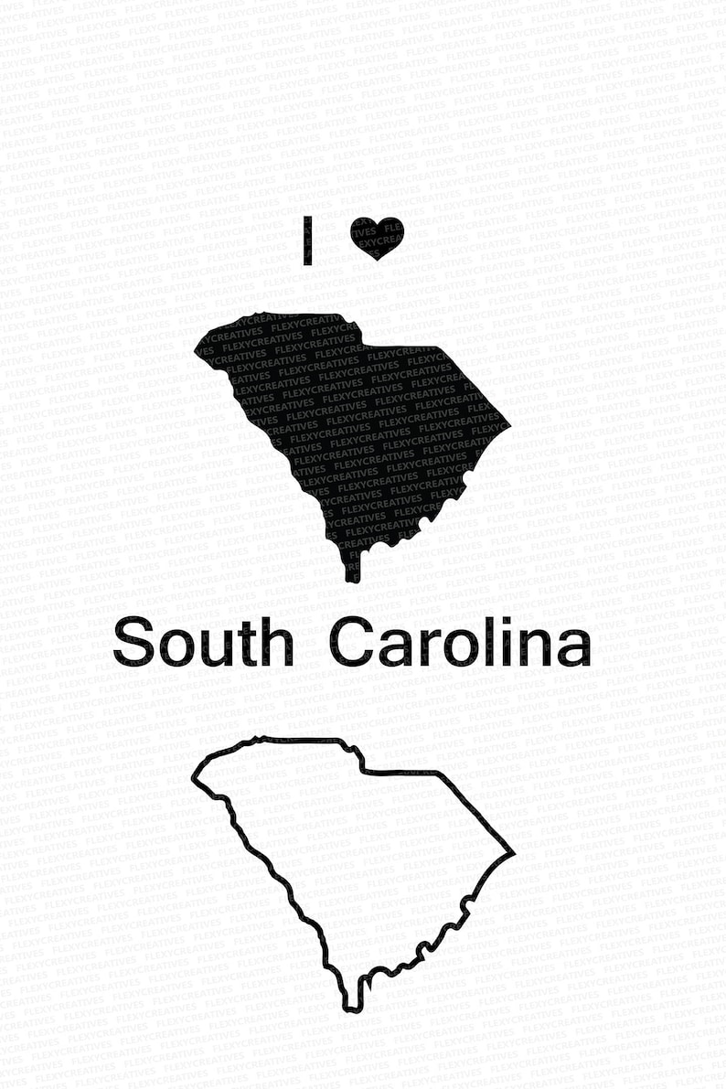 South Carolina Sc Svgvector State Clipart South Carolina Etsy