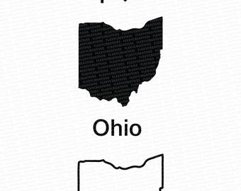 Ohio Vector, State Clipart, Ohio Clip Art, Ohio Map Clip art SVG, State png, DXF, pdf, EPS FlexyCreatives  #mp-50