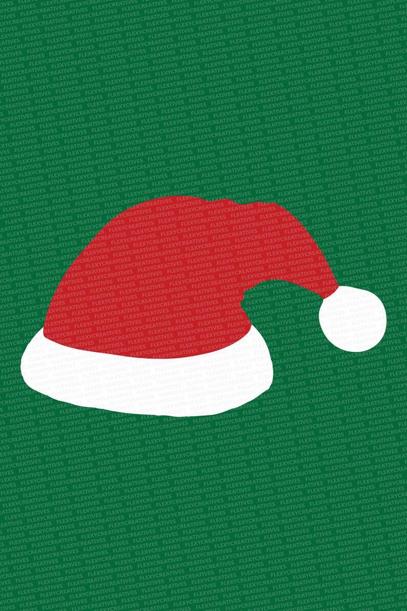 b0ab09e7a70ad Santa hat Vector Clipart christmas Cut File Santa hat Clip