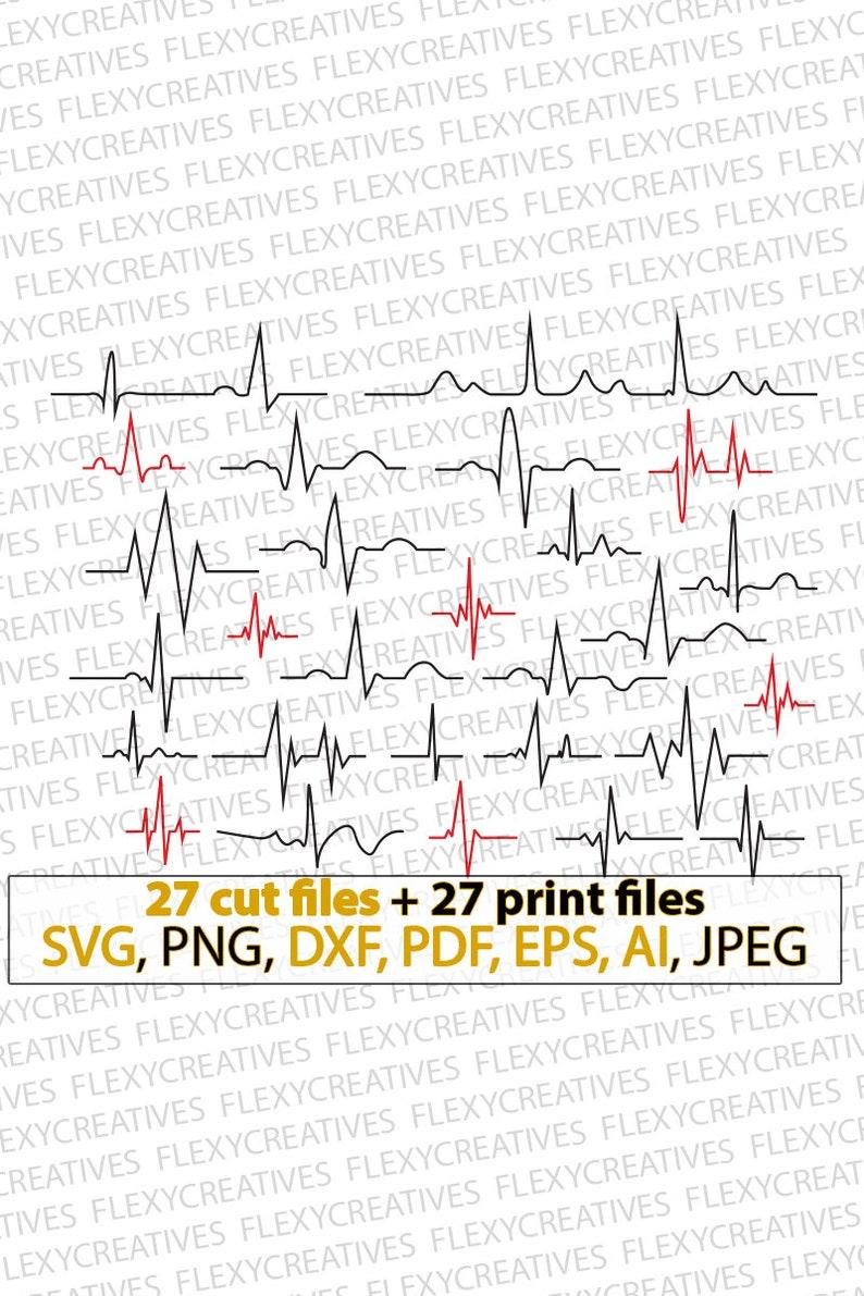 Heartbeat svg heartbeat pulse svg heartbeat line image 0