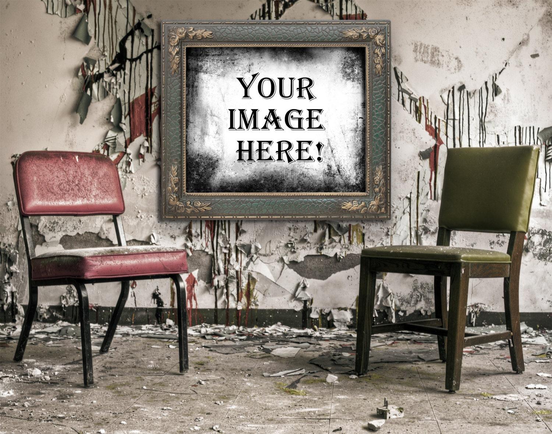 Grunge-Foto-Rahmen-Digital Download PNG Rahmen Grafik Digital   Etsy