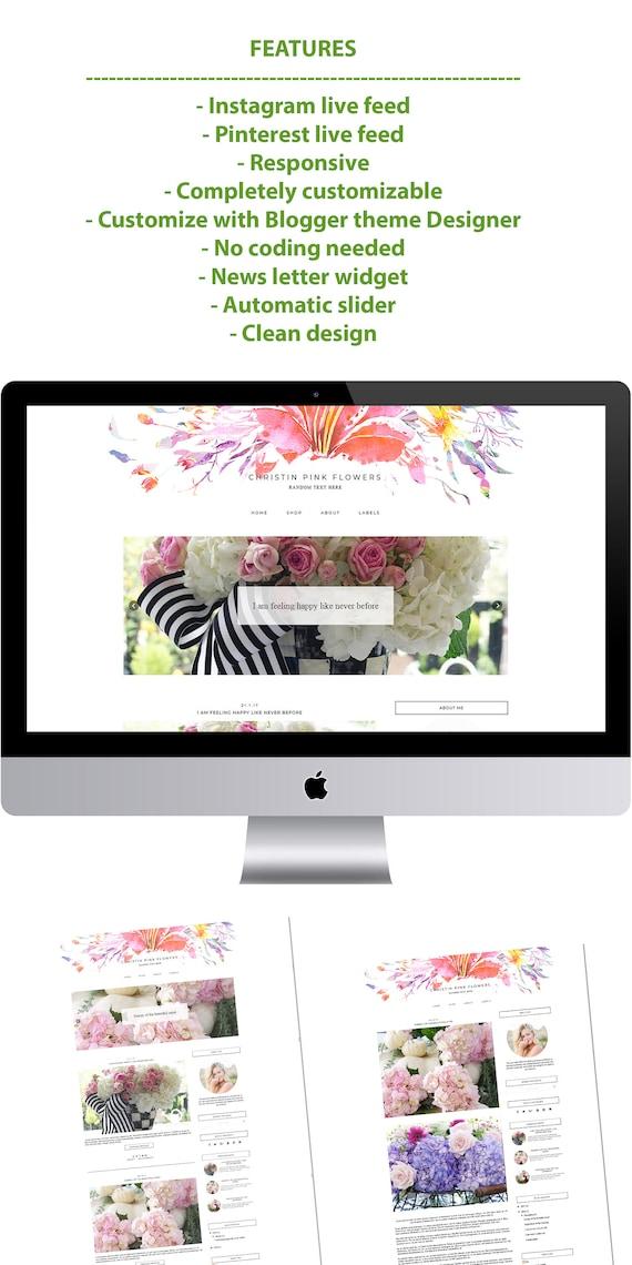 Christin - Minimal Blogger Template Responsive Design Custom Blogger Design Responsive Blogger template Blogger theme blogspot template