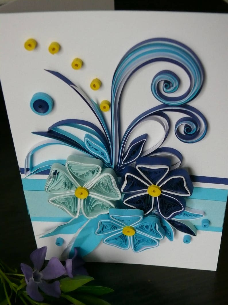 birthday card quilling card greeting card quilling quilled