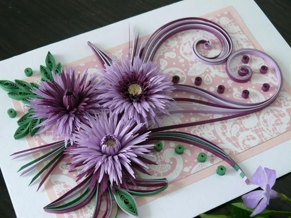 Greeting Cards Quilling Carts Wedding Birthday