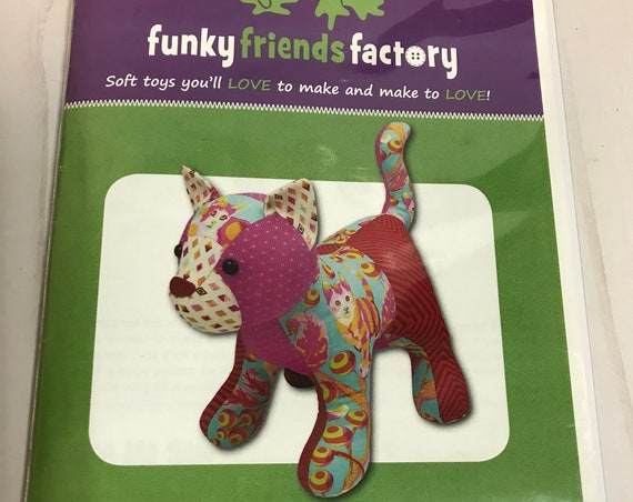 Patch The Pussycat Funky Friends Factory Stuffed Animal Pattern