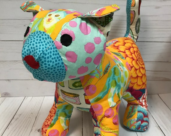 Tula Pink and Kaffe Funky Friends Patchwork Cat