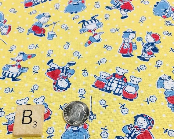 20s 30s vintage storybook feed sack Fabric Kim Diehl nursery rhymes