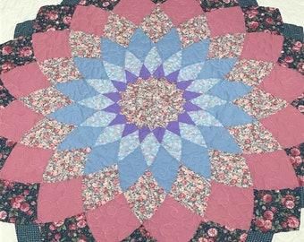 Giant Dahlia Flower Quilt 60x60