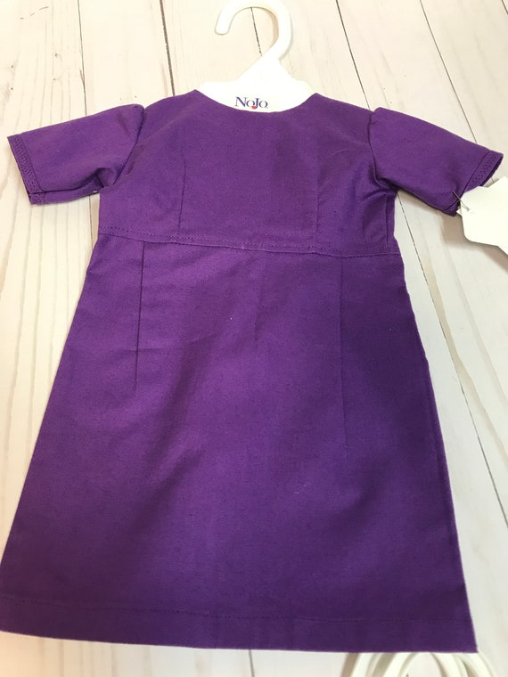 "Amish Dress for 18"" Doll Handmade Purple"