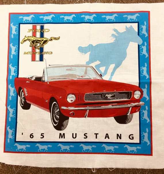 Ford Mustang 1965 sports car fabric panel