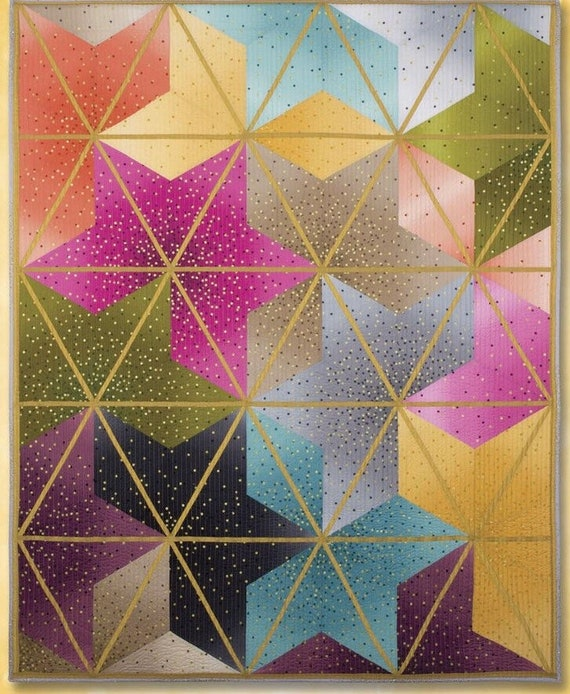 Ombré Blossoms Quilt Kit With Ruler