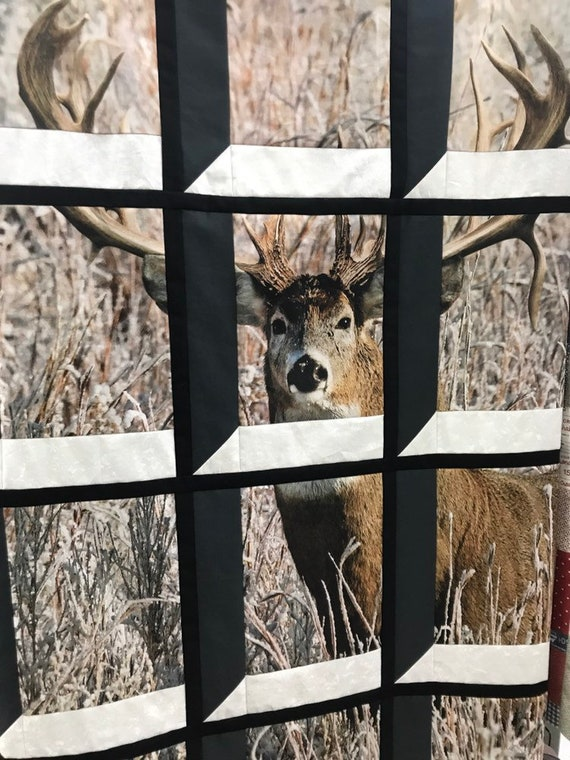 Whitetail Deer in Attic Window Quilt Kit FREE shipping Penney Rose Panel