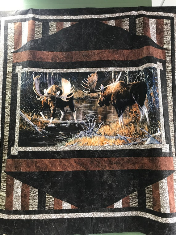 Majestic Moose Quilt Top or Quilt FREE SHIPPING
