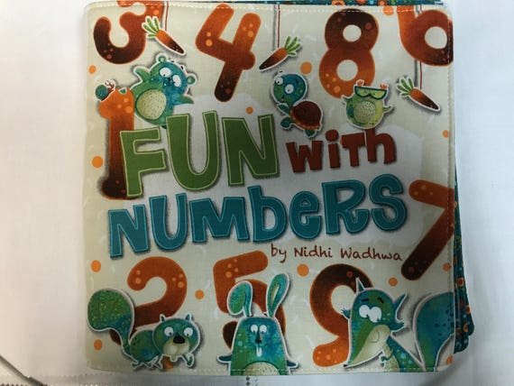 Fun with Numbers Fabric Book Gift Toddler Cloth Fabric Book Learn to Count