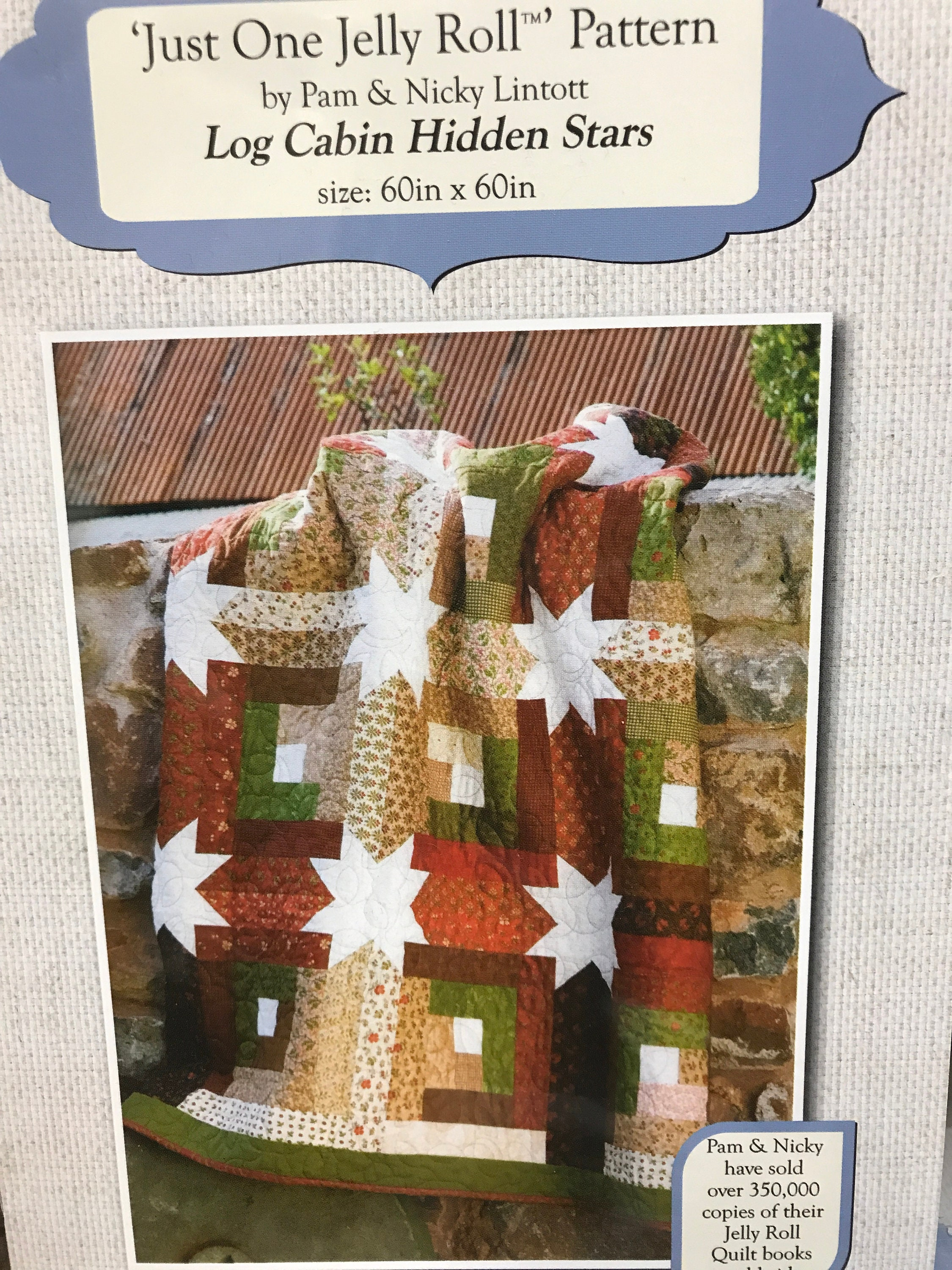 Log Cabin Hidden Stars Quilt Kit Fall Colors Autumn Just One Jelly