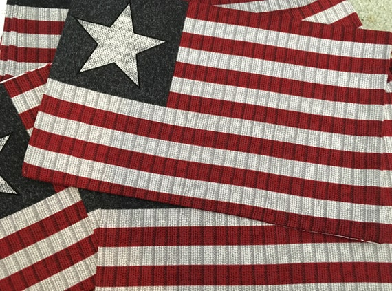 Patriotic placemat stars stripes  flag