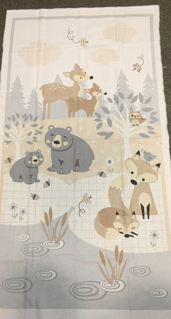 Woodlands little critters Baby Quilt Kit Generic